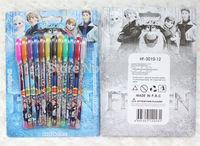12pcs/lot Frozen Gel Pen Shining Glitter Writing Supplies Stationery Office School Supplies Christmas gift