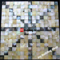 Yellow gold black mother of pearl shell mosaic kitchen wall tiles backsplash MOP107 8mm shell mosaics board mother of pearl tile