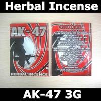 Free shipping,AK-47 herbal incense bags for 3 g,herbal incense zip lock bags