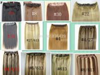"Beautiful Queen Hair Clip In Extension Natural Human Hair Clip In Female 22""-32"" 1pcs set  Full head 200g 28 colors avaialble"