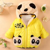 Free shipping Children Clothing panda Cartoon Outwear Child Boy Winter Wear Thickening Outerwear Coat Kids cotton-padded jacket