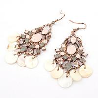 Europea Fashion Drop Shell Earrings Women Antique Earrings