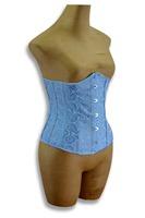 Stock Classic Blue color Plus size waist cincher Under wear for women Push up corsets Retro Embroidery underbust Drop ship 9427