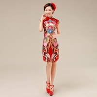 Brocade robes improved cheongsam wedding dress #55126