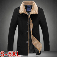 Free shipping 2014 new arrive men high quality wool coats thickening winter jackets for man single breasted cashmere overcoat