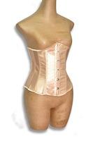 2014 New Arrival Solid Color Beige,White Soft plastic boned Underbust Corsete in women Plus size S-XXL,6XL  push up corsets 9425
