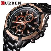 Free shipping CURREN brand luxury men watches water resistant calendar date import quartz movement mens stainless steel watch