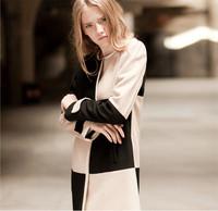 Casacos Femininos New 2014 Women Coat New Fashion Women's Slim Wool Blended  Coat Winter Coat Women Woolen Coat  O-Neck A092