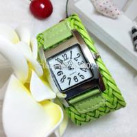100pcs/lot,women Casual Watches Fashion Weave Sports watch Rope Braided Dress Watch analog wristwatches promotions