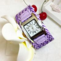 300pcs/lot,women Casual Watches Fashion Weave Sports watch Rope Braided Dress Watch analog wristwatches promotions