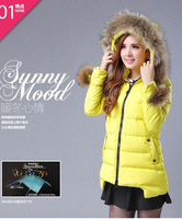 The new 2014 long in han edition cultivate one's morality cotton-padded clothes winter dress hooded winter jacket coat