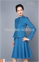 2014 autumn new arrival twinset elegant long-sleeve slim elegant fashion set