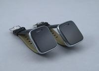 E6 wireless bluetooth leather chain squre screen black smart bluetooth watch
