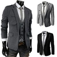 2014 autumn three-dimensional pocket slim fashion zipper suit