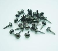 400Pcs 8mm Black  Metal Crafts  Round Mini Brads Scrapbooking Embellishment  DIY  E0126