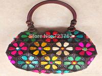 New arrival creative handbag Coconut shell Bohemian bag edition handbag purse Hainan flowers shell crafts package