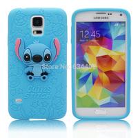 Cartoon Silicone Stitch Case For Samsung Galaxy S5 G900 Soft Back Cover Capa Celular  K20200