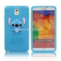 2014 New Cartoon Silicone Stitch Case For Samsung Galaxy Note 3 N900 N9000 N9005 Soft Back Cover Capa Celular K20199