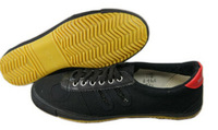 Cheap Volleyball Shoes ,Black/White Color, Canvas Wearproof Sneakers For Men/Women