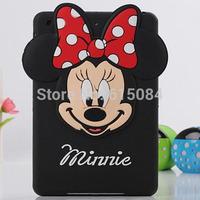 New Arrival 3D Cartoon mickey minnie mouse  Silicone soft Case Smart Cover For iPad mini Case mini 2 case