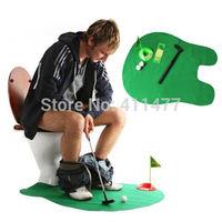 Toilet Bathroom Mini Golf Practice Set Mat Game Potty Putter Design Gift