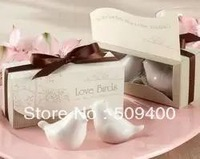 Love birds ceramic salt and pepper Shaker 200pcs=100SET/LOT wedding favors and gifts 2PCS/SET