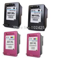 2PK Black +2pk Color For HP 301xl Ink cartridge For For HP Deskjet 1000 1050 2000 2050 3000 3050 3050se 1050A 2050A 2054A