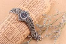 Fashion Digital Clock 925 sterling Thai Silver Classic Vintage High Quality Quartz Watches Women Wristwatches Fine