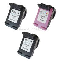 3PK Black & Color Ink Cartridges For HP901XL