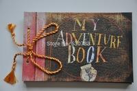 free shipping Home Decor Photo album (My adventure book) pixar up film adventure book Loose-leaf Photo Album as birthday gift