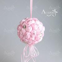 Free shipping 2014 new style hot sale wedding decoration flower ball silk flower balls rose flower ball