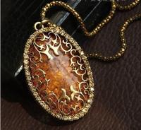 Sunshine jewelry store Vintage Pendants & Necklaces European Royal Amber Necklace