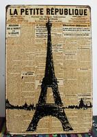 20*30CM Retro France Eiffel Tower Metal Signs Bar Pub Wall Decor Tin Sign Home Plaques Vintage Poster