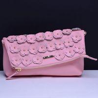 woman bags fashion 2014 ladies designer brand bag women handbag genuine leather messenger bag,folding flower clutch hand bag