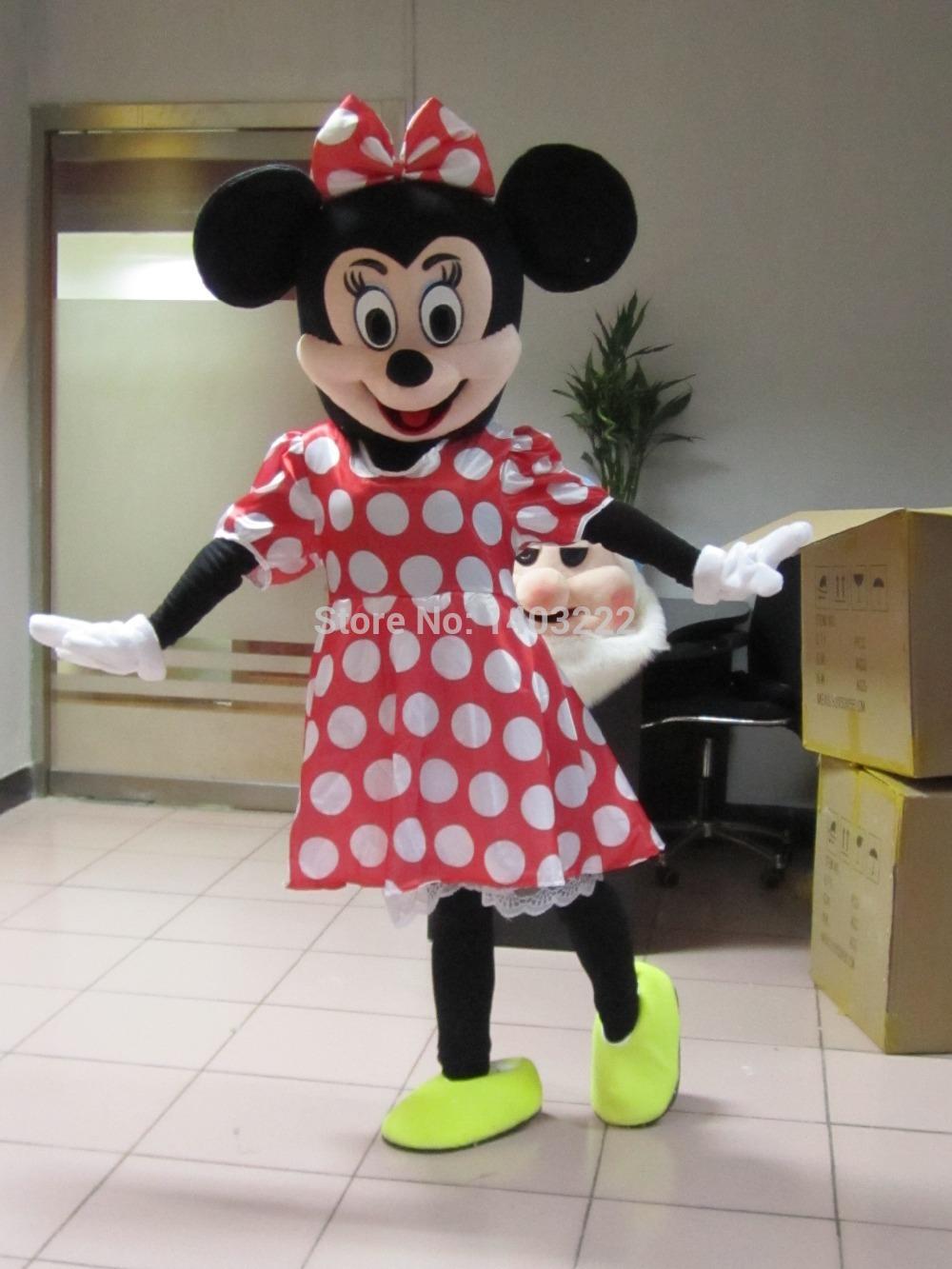 High quality Minnie Mascot Costume The adult size Minnie Mouse Mascot Costume Free Shipping(China (Mainland))