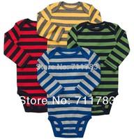 wholesale carter's original baby boy long sleeve bodysuit , carter's baby clothes 4pcs/lot, free shipping