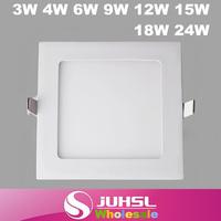 Slim led downlight, fog square LED panel lights, 3W 4W 6W 9W 12W 15W 18W 21W 24W kitchen ceiling fixtures,Indoor Lighting