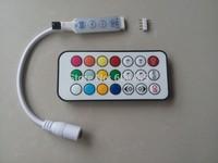 IR remote control pixel digital dream color mini led controller ws2811 ws2812 ws2812b