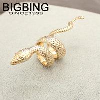 Bigbing jewelry fashion Golden Crystal snake ring wedding ring nickel free Free shipping! F504