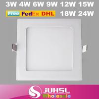 Ultrathin led downlight, anti fog square LED panel lights, 3W 4W 6W 9W 12W15W18W21W24W ceiling kitchen lighting,Indoor Lighting