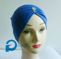 pleated fashion cap underscarf Headwrap hat under hijab Cap Chemo mixed 8 Colors 30pcs/lot free ship