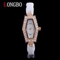 LONGBO brand 100% ceramic Rhinestones quartz lady watch 30m waterproof