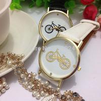 300pcs/lot, new fashion Geneva style match bike print wrist watch hot woman man no logo quartz watches hot woman dress watches.