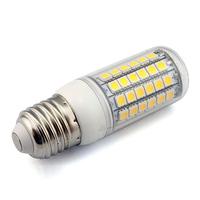 QC Passed Led Corn Bulb E27 69 5050 smd  360 Degree 220V Warm White/White led lamps 10 Pieces/lot Free Shipping