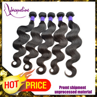 Hair weaving 5pcs / lot natural color body wave Peruvian virgin hair 100g/ pcs hair extension 3-5 delivery days