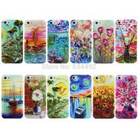 Abstract Flower Print Hard PC Case for Apple iPhone 4 4G 4S Back Cover Capa Celular K20210