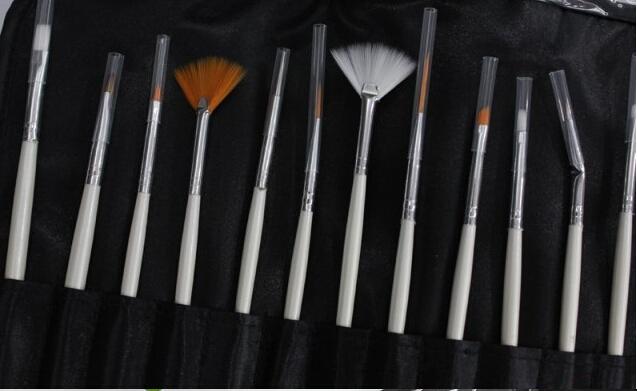 SB-007 20pcs/set Wholesale nail art brush nail manicure tools for nail colored drawing free shipping(China (Mainland))