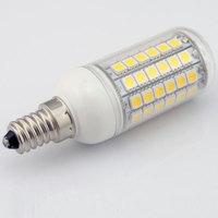 Environmental E14 Corn Bulb 69 5050 220V 360 Degree White/Warm White Led Lamps 10 pieces/lot Free Shipping