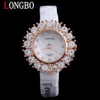 New style LONGBO Luxury Brand waterproof Watch ceramic Ms Watch Rhinestones quartz watch
