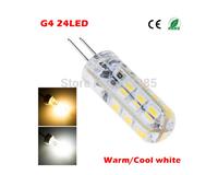 High quality G4 Led 12V 24 Leds 3014 Chip Silicon Lamp DC12V Crystal Corn Light 3W Bulb Lighting 20Pcs/Lot